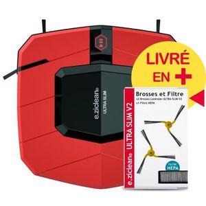 ASPIRATEUR ROBOT Aspirateur Robot e.ziclean® ULTRA SLIM RED V2