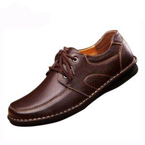 RICHELIEU Homme Chaussure de Cuir Souple Chaussure Habillé C