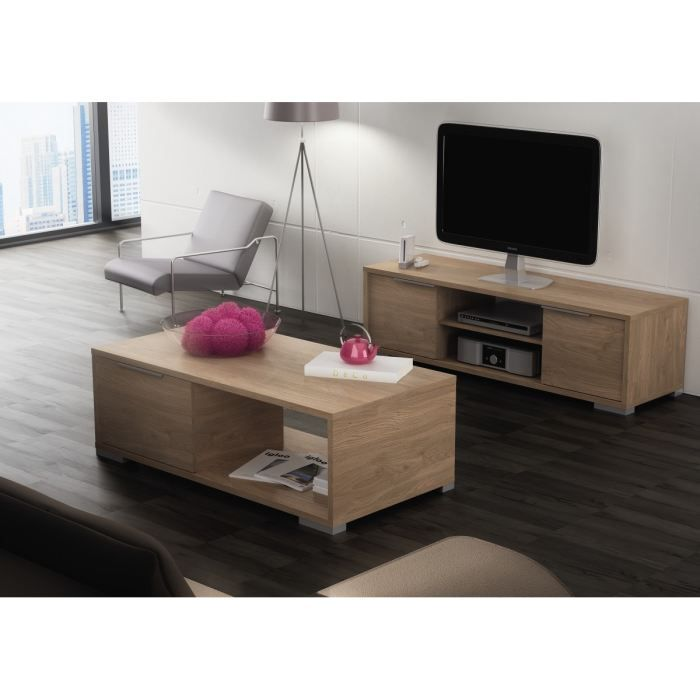 zwin ensemble meuble tv table basse achat vente. Black Bedroom Furniture Sets. Home Design Ideas