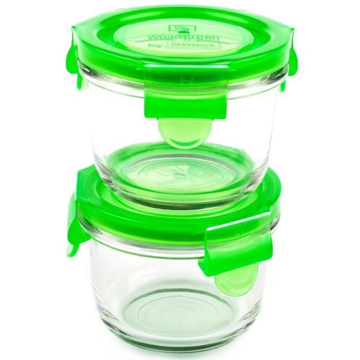 2 pots de conservation en verre tremp 233 165ml we achat vente conservation repas 2 pots de