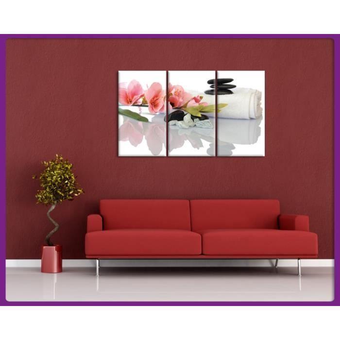 Bilderdepot24 impression sur toile zen cailloux 90x60cm for Tableau impression sur toile