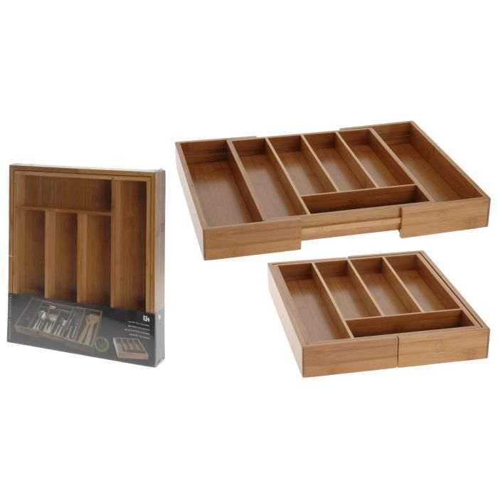Range couvert de cuisine bambou extensible achat vente - Couvert de cuisine ...