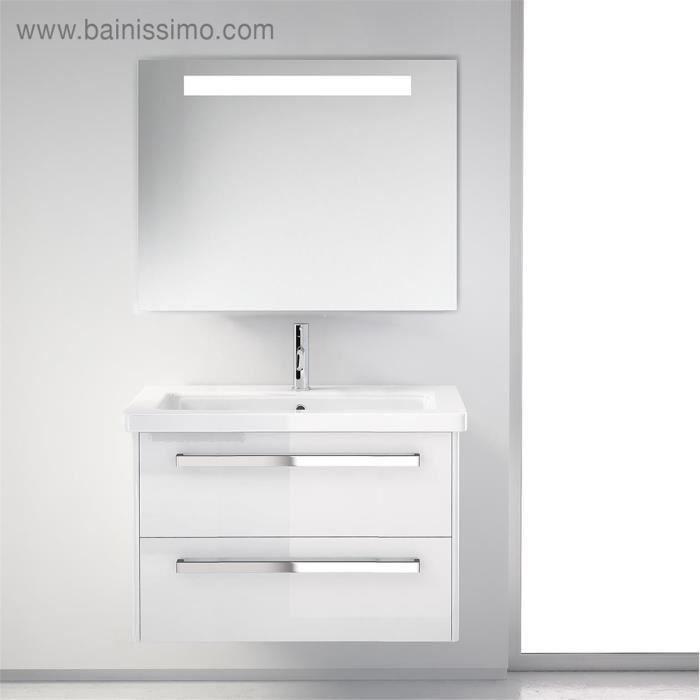 Meuble de salle de bains smile 2 tiroirs blanc achat - Meuble salle de bains castorama ...
