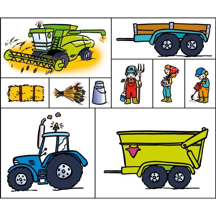 Kit tampon et coloriage la ferme mod le a a achat vente kit scrapbooking kit tampon et - Coloriage la ferme ...