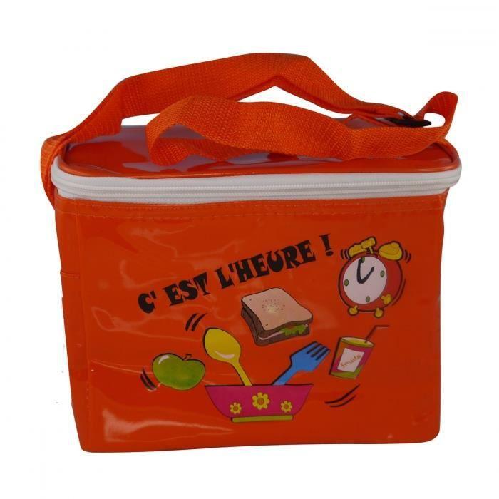 Sac isotherme en vinyle texte orange petit mod le achat vente glaci re sac isotherme sac - Petit sac isotherme repas ...