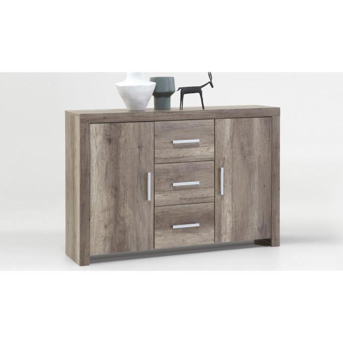 bahut 2 portes et 3 tiroirs ch ne fonc kenton achat vente buffet bahut bahut 2 portes et. Black Bedroom Furniture Sets. Home Design Ideas