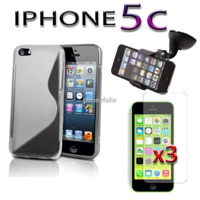 lot 5 accessoires apple iphone 5c achat housse. Black Bedroom Furniture Sets. Home Design Ideas