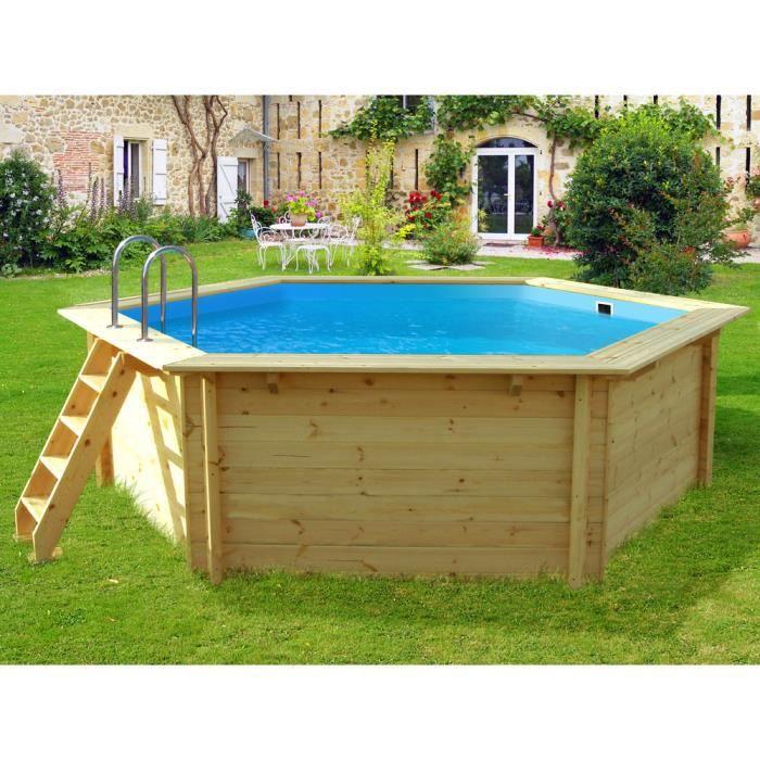 Piscine bois hexa x m achat vente kit piscine piscine bois hexa x 1 for Piscine bois cdiscount
