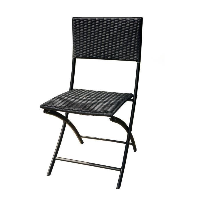 Chaise longue en resine tressee lot 8 chaises jardin en for Chaises longues en resine