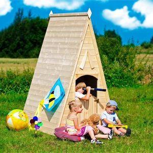 cabanne en bois enfant achat vente jeux et jouets pas chers. Black Bedroom Furniture Sets. Home Design Ideas