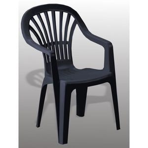 Fauteuil de jardin avec accoudoir achat vente fauteuil for Fauteuil jardin plastique gris