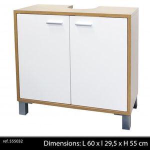 meuble salle de bain sous evier achat vente meuble salle de bain sous evier pas cher cdiscount. Black Bedroom Furniture Sets. Home Design Ideas