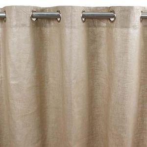 rideaux en lin achat vente rideaux en lin pas cher cdiscount. Black Bedroom Furniture Sets. Home Design Ideas