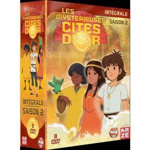 DVD DESSIN ANIMÉ LES MYSTERIEUSES CITES D'OR INTEGRALE SAISON 2