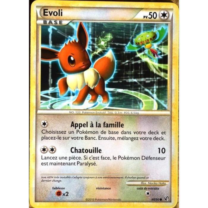 Carte pok mon 48 90 evoli 50 pv hs indomptable neuf fr carte pok mon 48 90 evoli 50 pv hs - Famille evoli pokemon ...