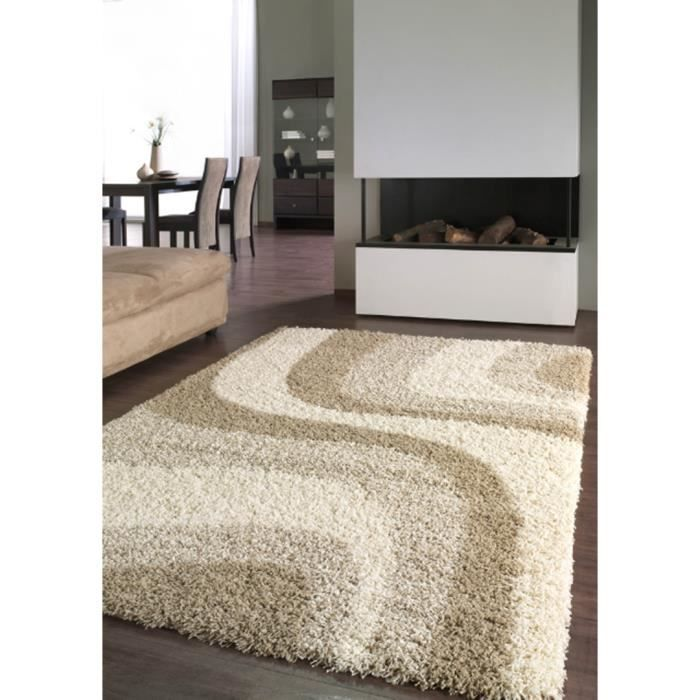 tapis shaggy cr me woop 200 x 290 achat vente tapis cdiscount. Black Bedroom Furniture Sets. Home Design Ideas