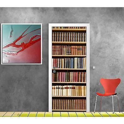 stickers pour porte trompe l oeil d co biblioth que r f 759 dimensions 73x204cm achat. Black Bedroom Furniture Sets. Home Design Ideas