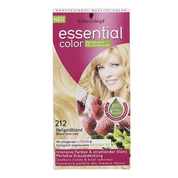 essential color n212 blond dore clair soins des cheveux - Soin Cheveux Blond Colors
