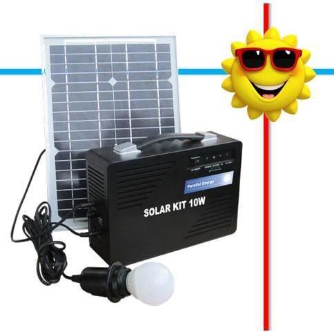 kit solaire d clairage 10w 12 230v achat vente kit. Black Bedroom Furniture Sets. Home Design Ideas