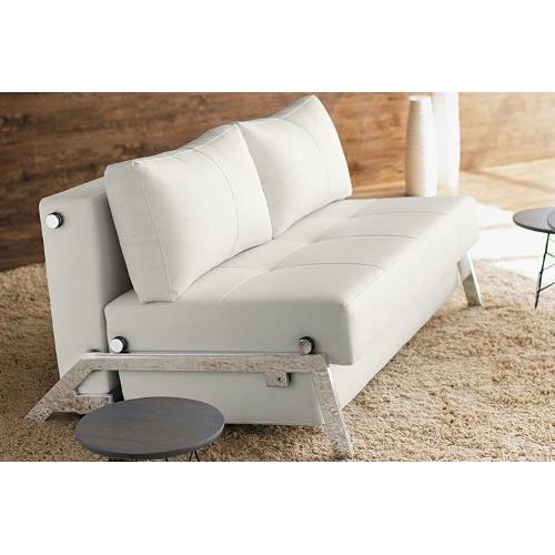 Canap lit design convertible sofabed tissu beige achat vente canap so - Canape design danois ...
