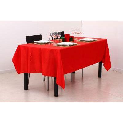 Nappe rectangulaire rouge et beige for Set de table rectangulaire