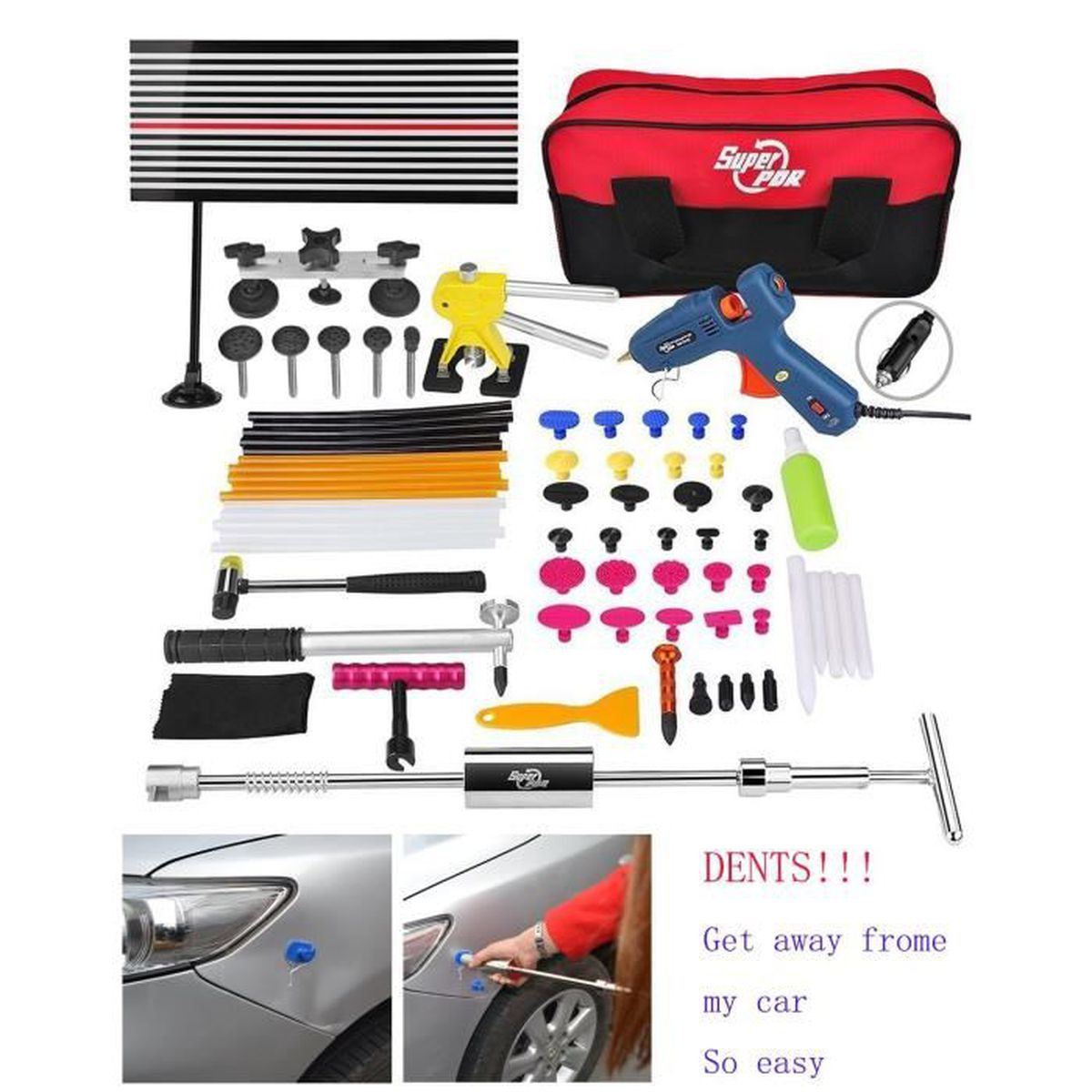 super pdr 65 pi ces auto outils de r paration carrosserie outillage kit achat vente v rin. Black Bedroom Furniture Sets. Home Design Ideas