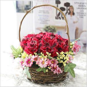 panier de fleurs artificielles achat vente panier de fleurs artificielles pas cher cdiscount. Black Bedroom Furniture Sets. Home Design Ideas