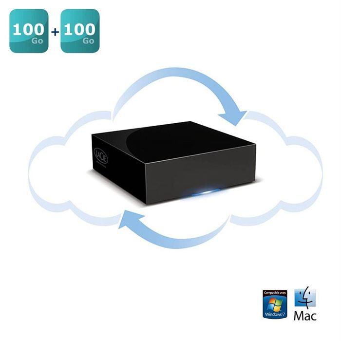 lacie cloudbox 100 go achat vente disque dur externe lacie cloudbox 100 go cdiscount. Black Bedroom Furniture Sets. Home Design Ideas