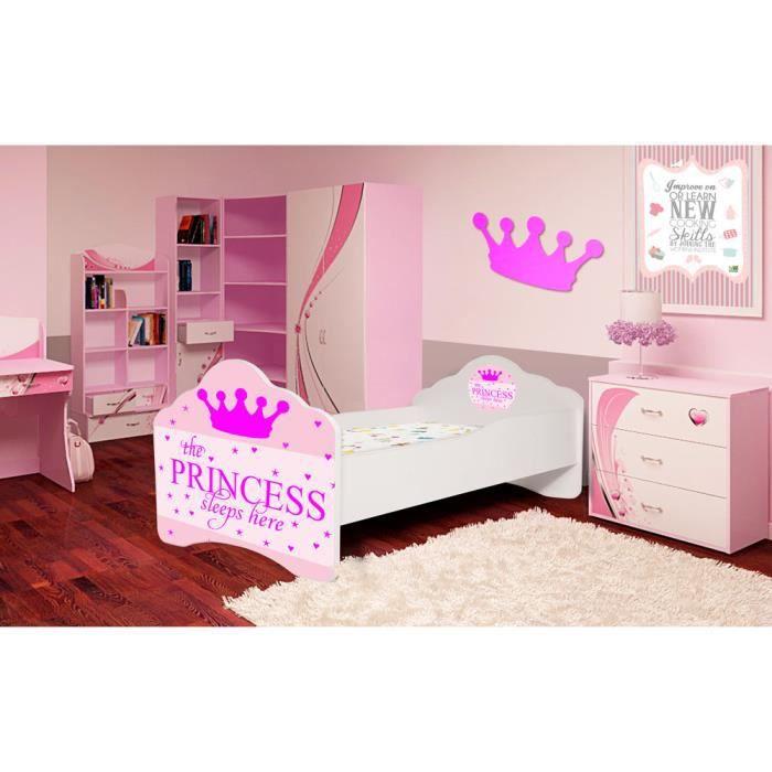 lit enfant princesse endormie sommier matelas 140x70 cm achat vente lit complet lit. Black Bedroom Furniture Sets. Home Design Ideas