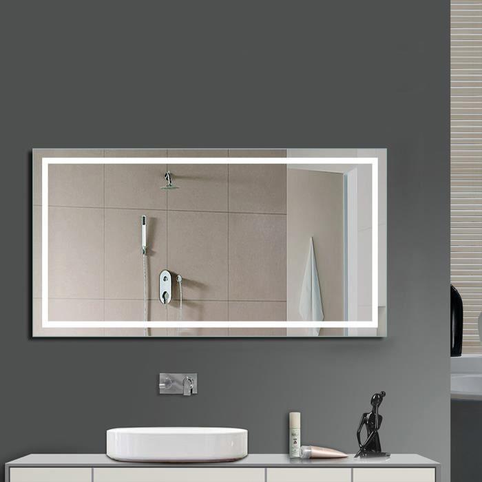 Anten miroir led lampe de miroir clairage salle de bain miroir lumineux verre tremp design Miroir salle de bain lumineux