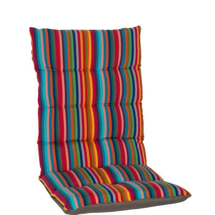 jardin prive coussin futon de fauteuil haut dossier la catalane 85x42x5cm achat vente. Black Bedroom Furniture Sets. Home Design Ideas