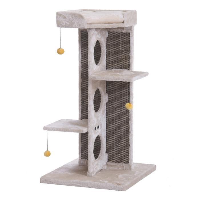 nobby arbre chat sardu beige 60 x 60 x 114cm achat vente arbre chat arbre chat cdiscount. Black Bedroom Furniture Sets. Home Design Ideas