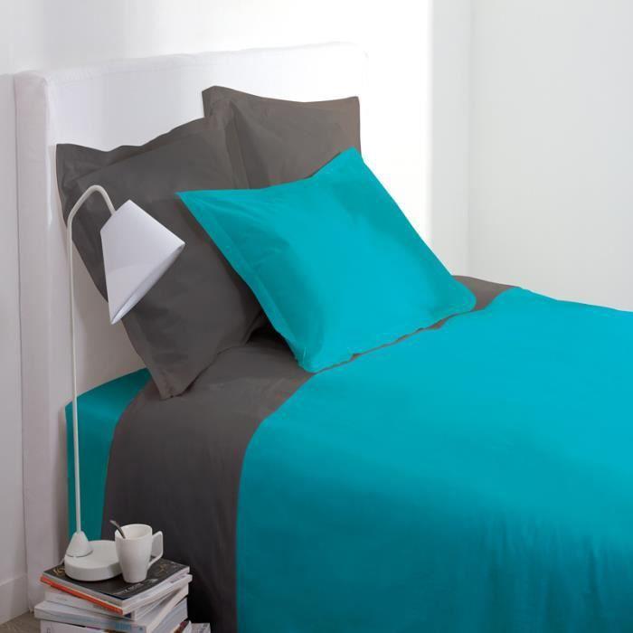 paris prix taie d 39 oreiller 63x63cm turquoise achat. Black Bedroom Furniture Sets. Home Design Ideas