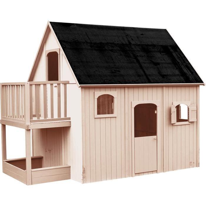 soulet maisonnette bois duplex l 3 05 m p 2 10 m h 2 50 m maison enfant achat vente. Black Bedroom Furniture Sets. Home Design Ideas