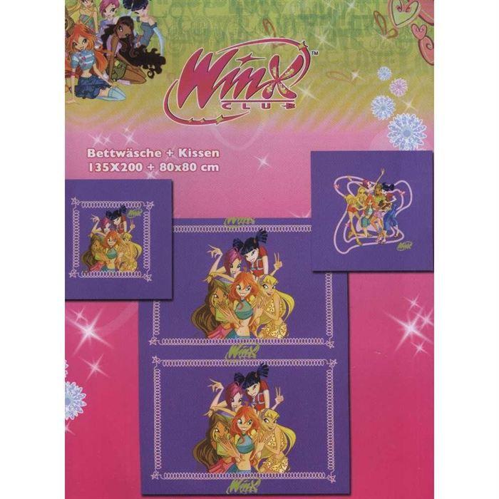 housse de couette winx violette avec taie achat vente parure de couette cadeaux de no l. Black Bedroom Furniture Sets. Home Design Ideas