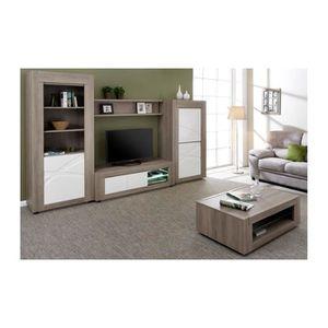 Ensemble meuble tv et table de sallon achat vente for Ensemble table basse et meuble tv pas cher