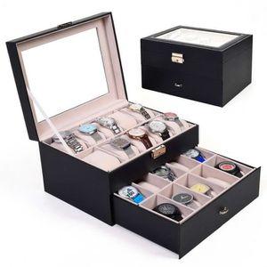 boite rangement montres achat vente pas cher cdiscount. Black Bedroom Furniture Sets. Home Design Ideas