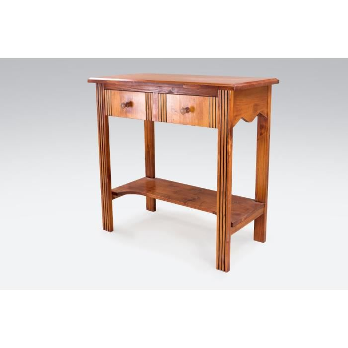 Foyer Console Questions : Console hall bois tiroirs sapin vernis achat