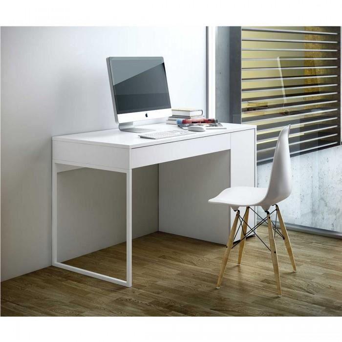 Bureau design blanc prado coloris blanc achat vente bureau bureau design - Bureau de travail blanc ...