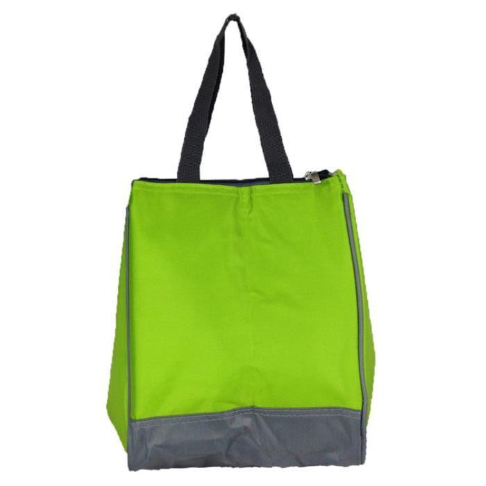 zxke sac femme couleur unie tanche sac d jeuner isotherme bo tes repas vert achat vente. Black Bedroom Furniture Sets. Home Design Ideas