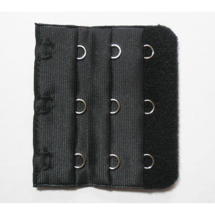 rallonge soutien gorge noir 3 crochets 5 5 cm noir achat vente bretelle soutien g. Black Bedroom Furniture Sets. Home Design Ideas