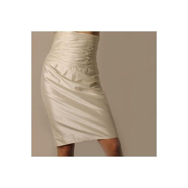 Jupe soie le bo couture ivoire couleur blanc blanc achat vente jupe 2 - Blanc ivoire couleur ...