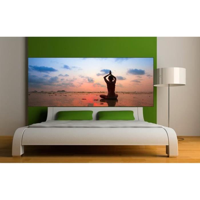 stickers t te de lit d co zen dimensions 200x78cm achat vente stickers cdiscount. Black Bedroom Furniture Sets. Home Design Ideas
