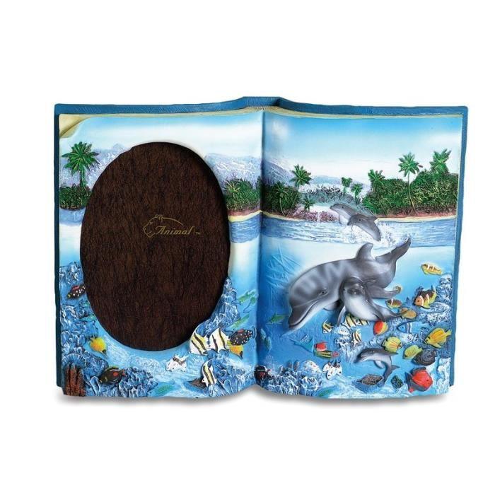 cadre photo livre avec dauphin achat vente cadre photo cdiscount. Black Bedroom Furniture Sets. Home Design Ideas