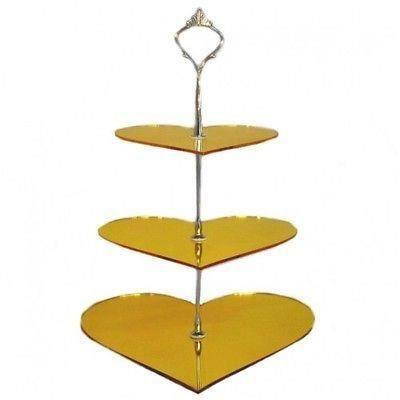 Miroir acrylique jaune coeur 3 niveaux stand g teau for Miroir acrylique incassable