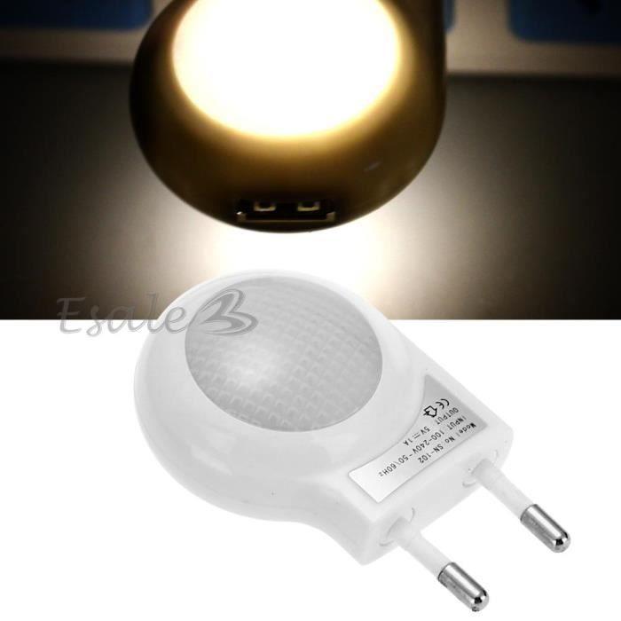 0 7w led veilleuse lampe ampoule nuit blanc escargot usb for Lampe a led maison