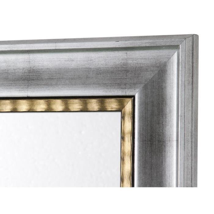 miroir cadre argent avec fil or achat vente miroir cdiscount