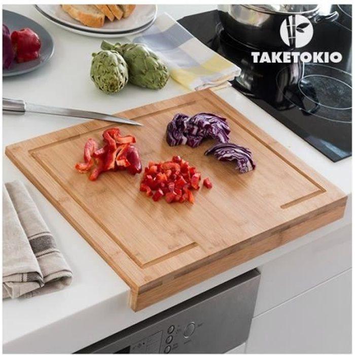 planche d couper en bambou pour plan de travail taketokio achat vente planche a. Black Bedroom Furniture Sets. Home Design Ideas
