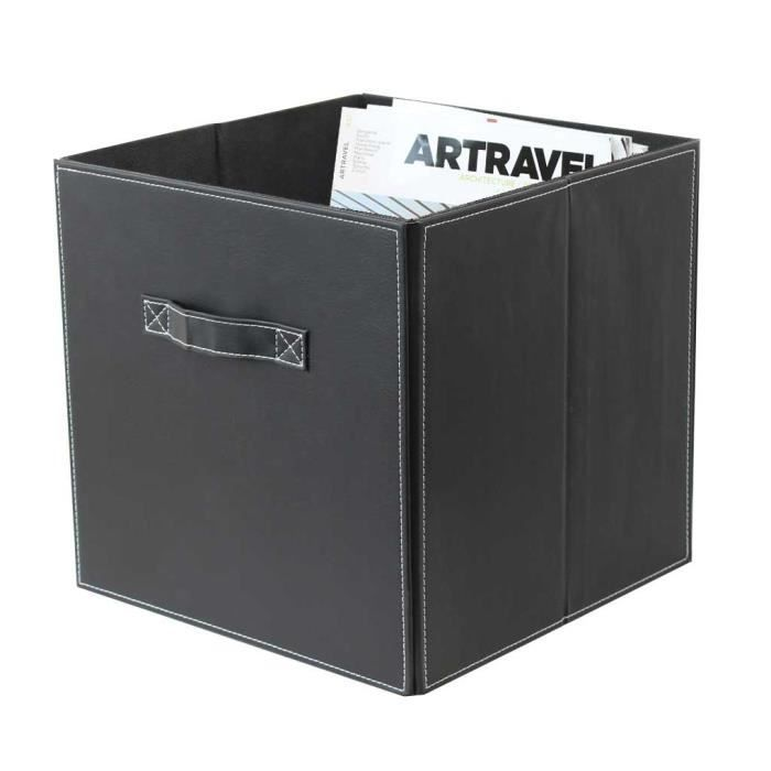 cube de rangement achat vente panier bac rangement panier en pu chocolat cdiscount. Black Bedroom Furniture Sets. Home Design Ideas