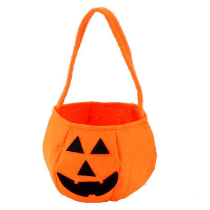 Sourire citrouille enfants sac de bonbons sac halloween anniversaire de vacances sac de f te - Sac bonbon anniversaire a fabriquer ...
